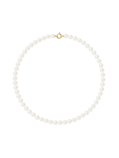 Collier Gill White - Or Jaune