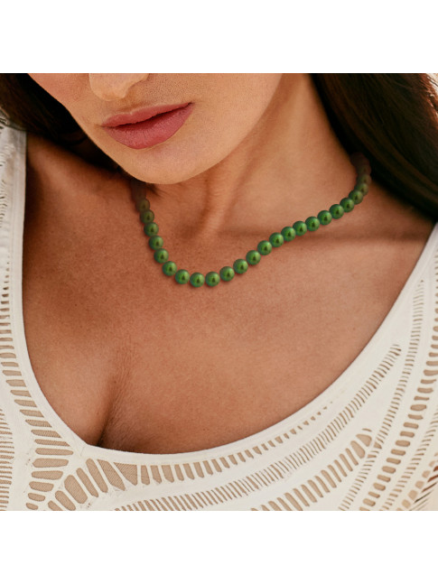 Collier Gill Green - Or Blanc